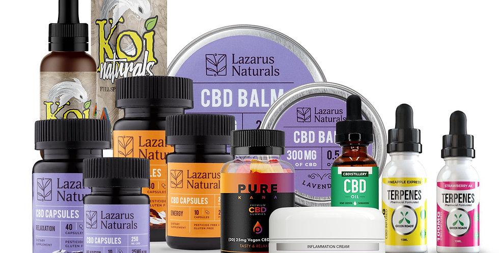 Bundle Box #3- Green Roads, Lazarus Naturals, Koi, cbdMD, Purekana