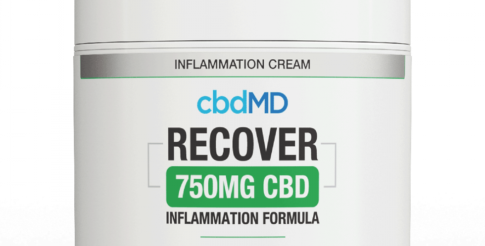 750mg Recover Inflammation Topical 4oz by cbdMD