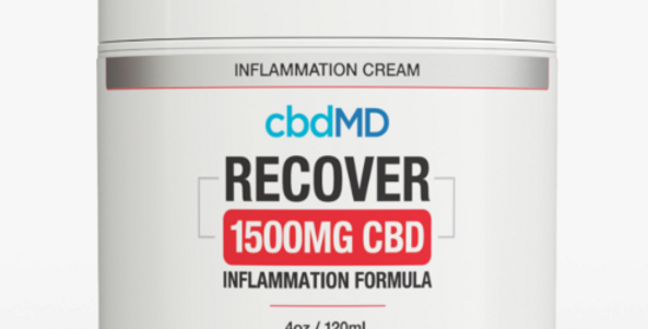 1500mg Recover Inflammation Topical 4oz by cbdMD