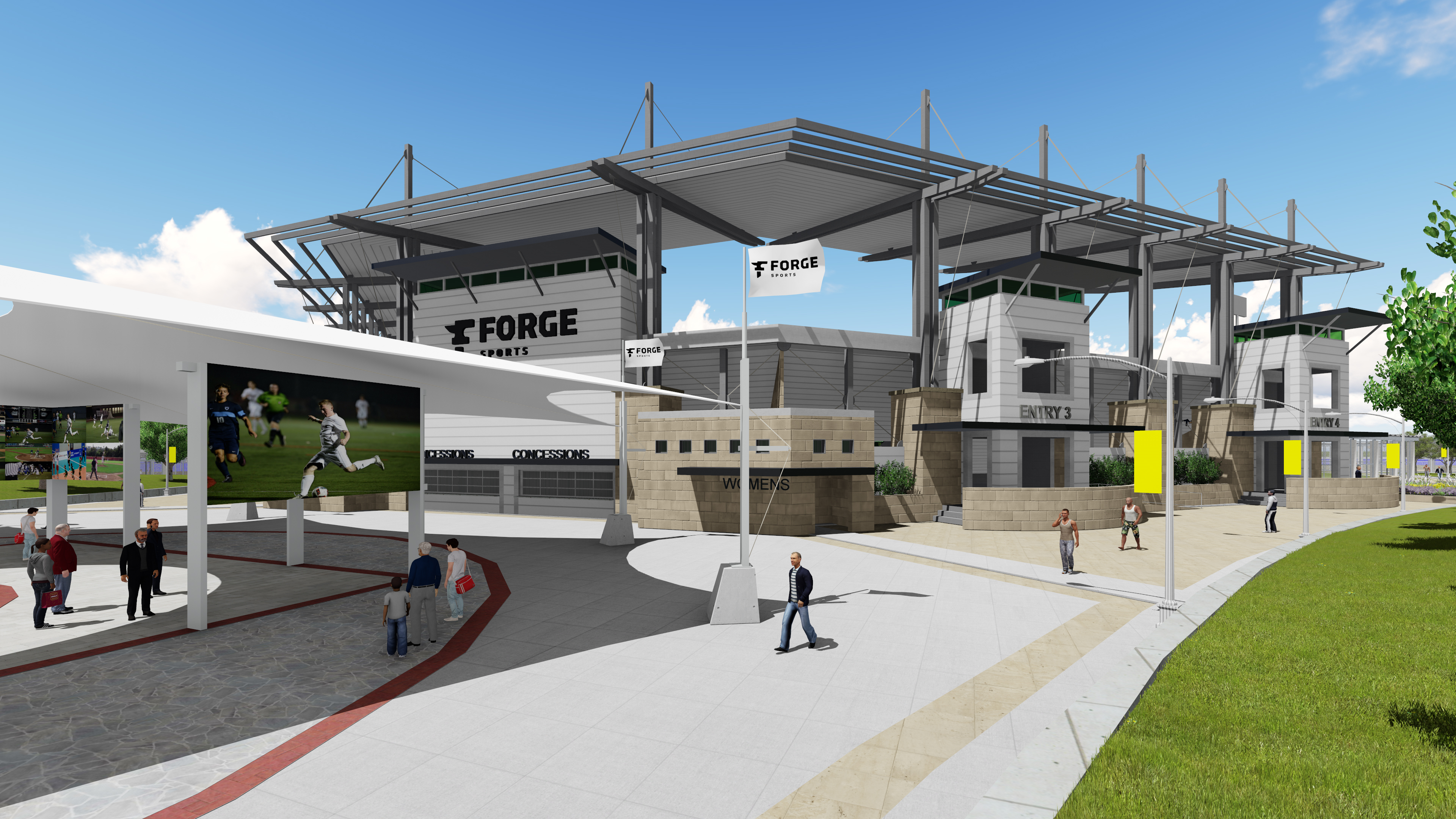 Forge Sports Outdoor Amenities