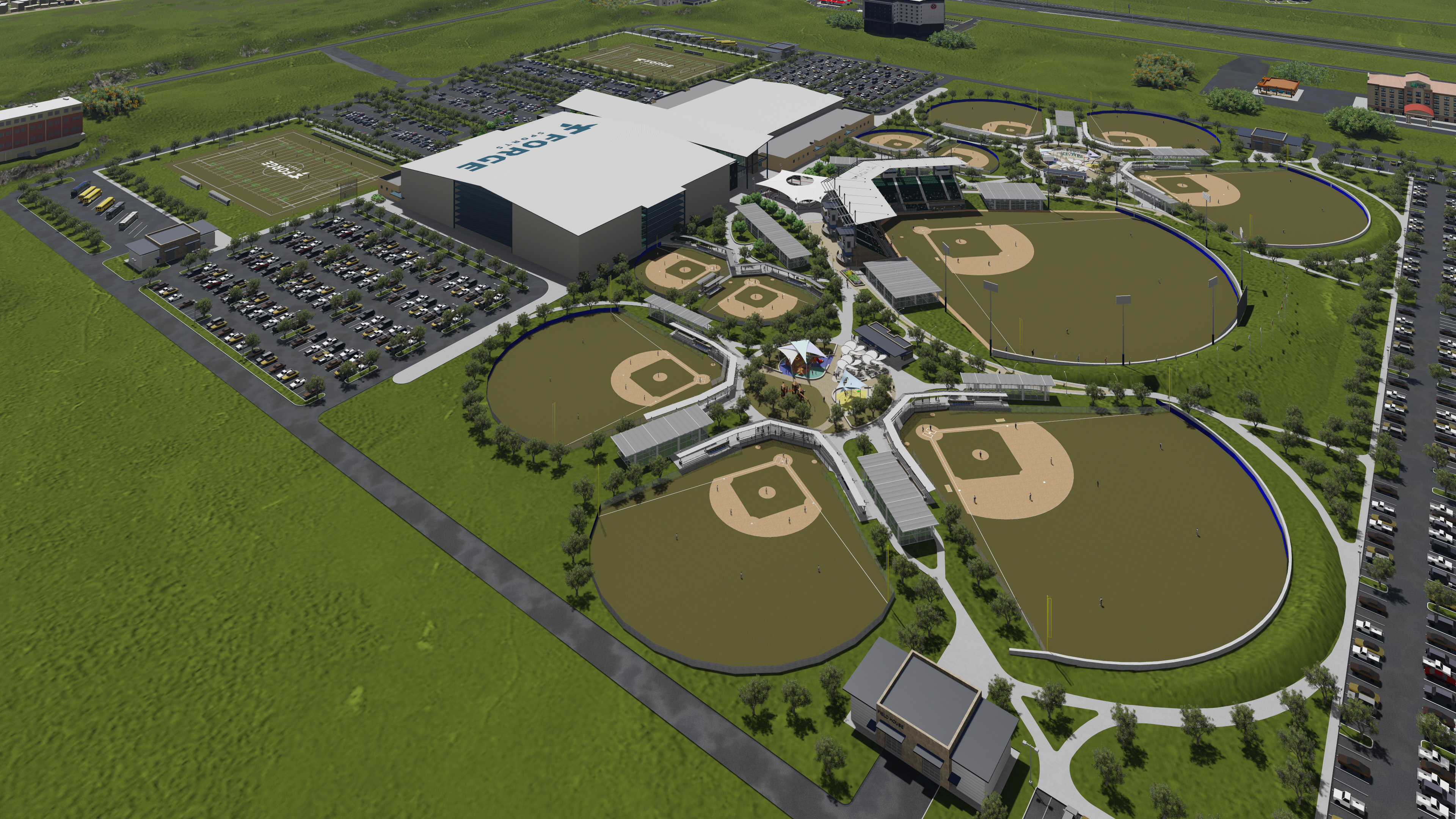 Forge Sports Academy Aerial