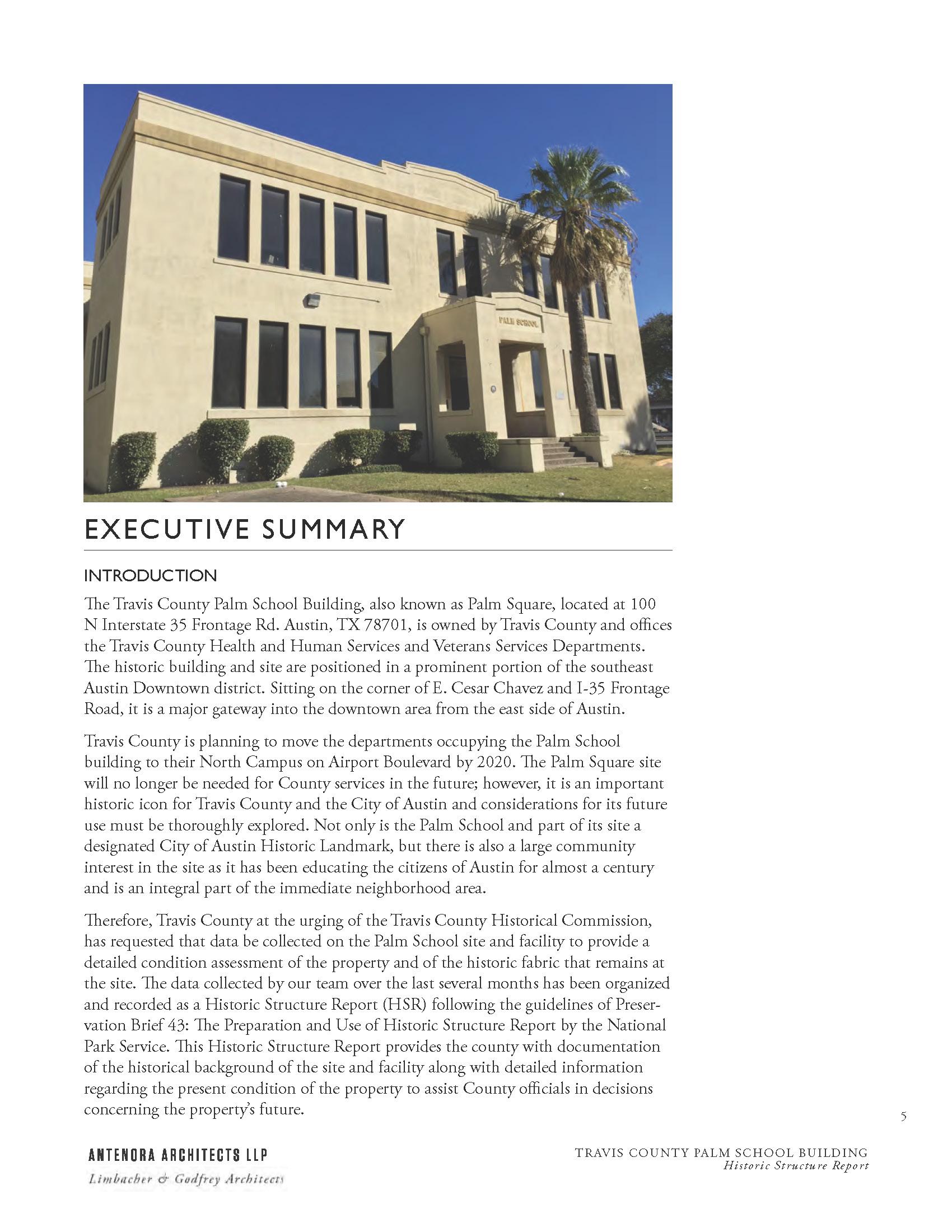 Palm School HSR Executive Summary
