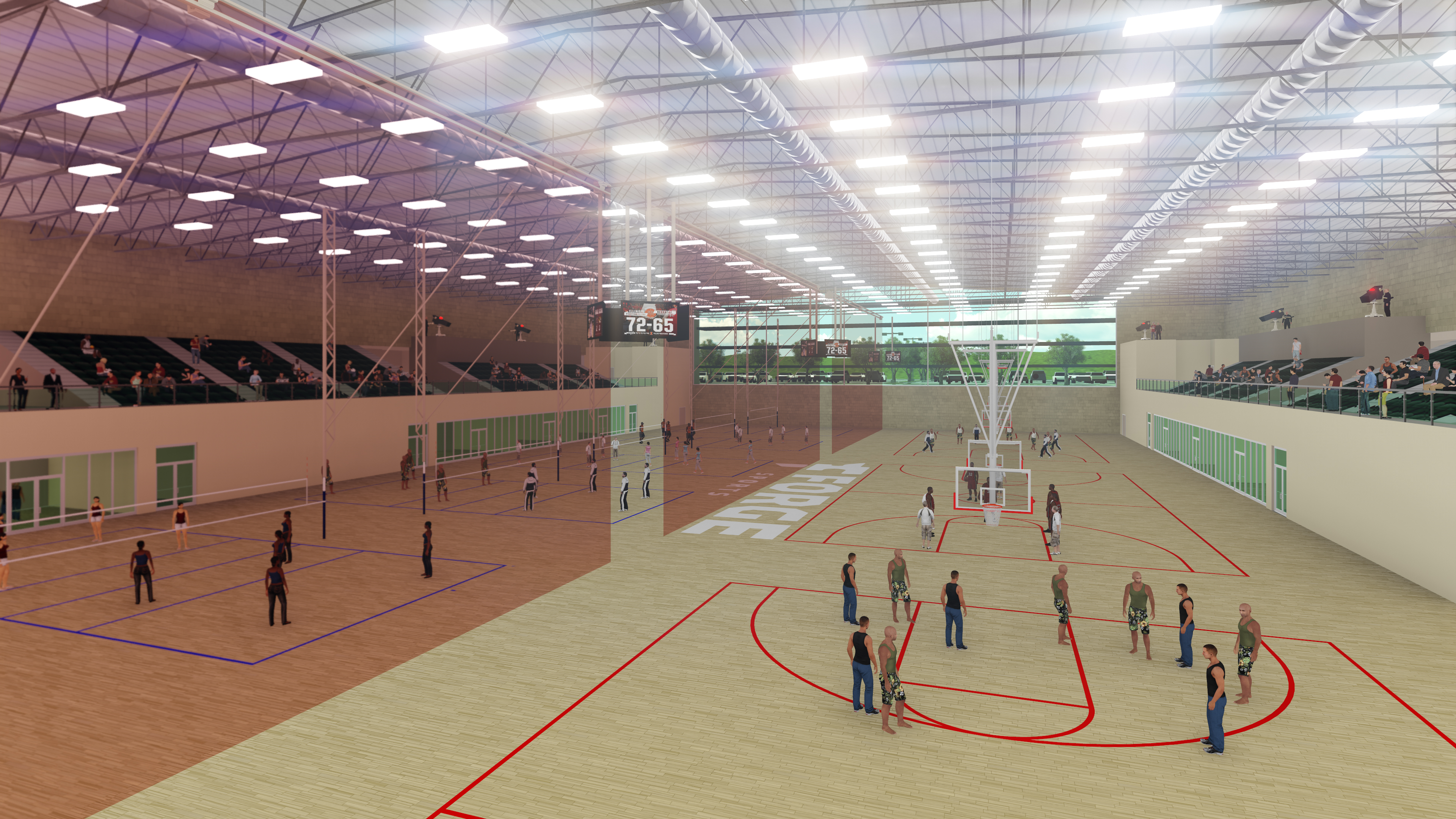 Forge Volleyball Basketball Courts