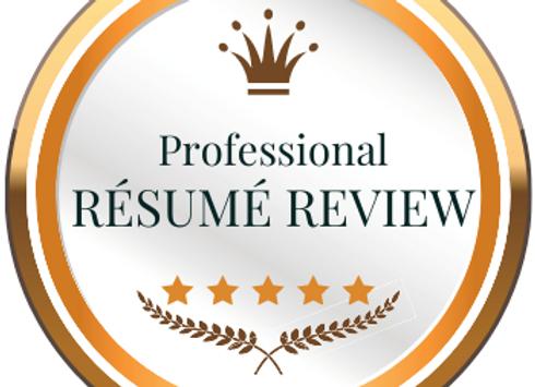 Professional Résumé Review