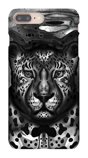 Mobile Case Leopard schwarz/weiss