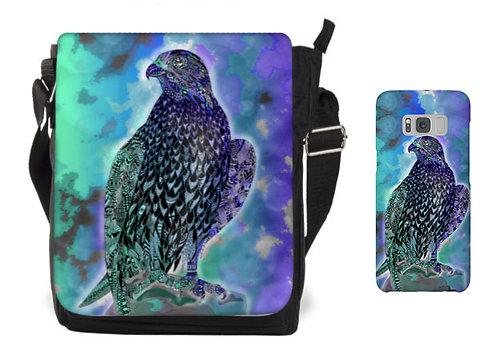 Falken-Tasche und Mobile Case