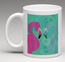 Tasse Flamingo weiss