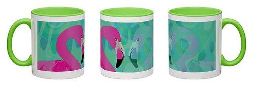 Tasse Flamingo grün