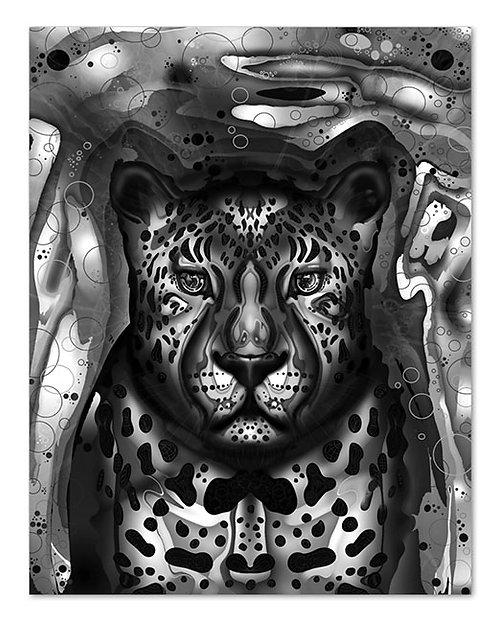 Silberner Leopard