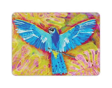 Postkarte blauer Papagei