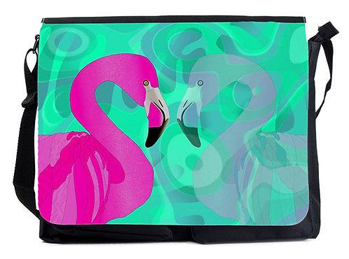 Schultertasche Flamingos XL