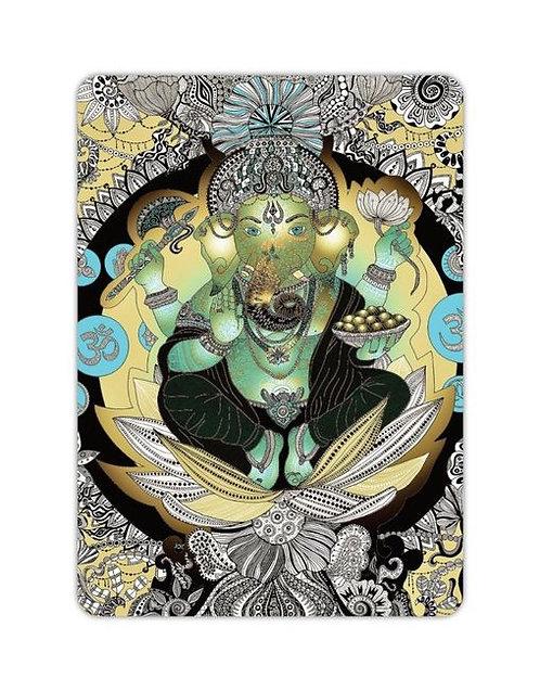 Postkarte Ganesha gold
