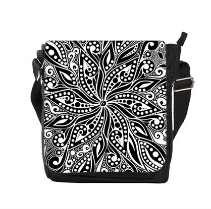 Mandala schwarz/weiss-Tasche