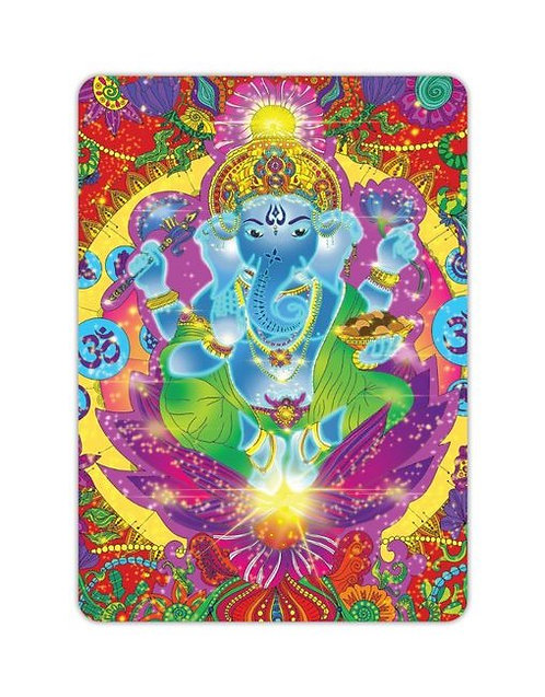 Postkarte Ganesha bunt
