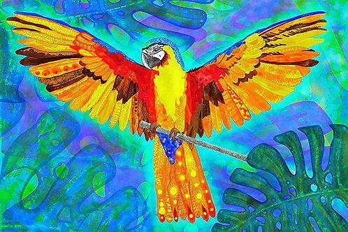 Gelber Papagei