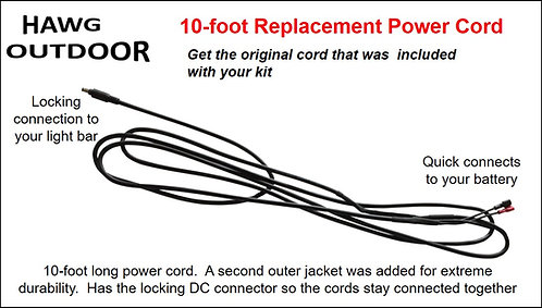 Replacement power cord - 10 foot