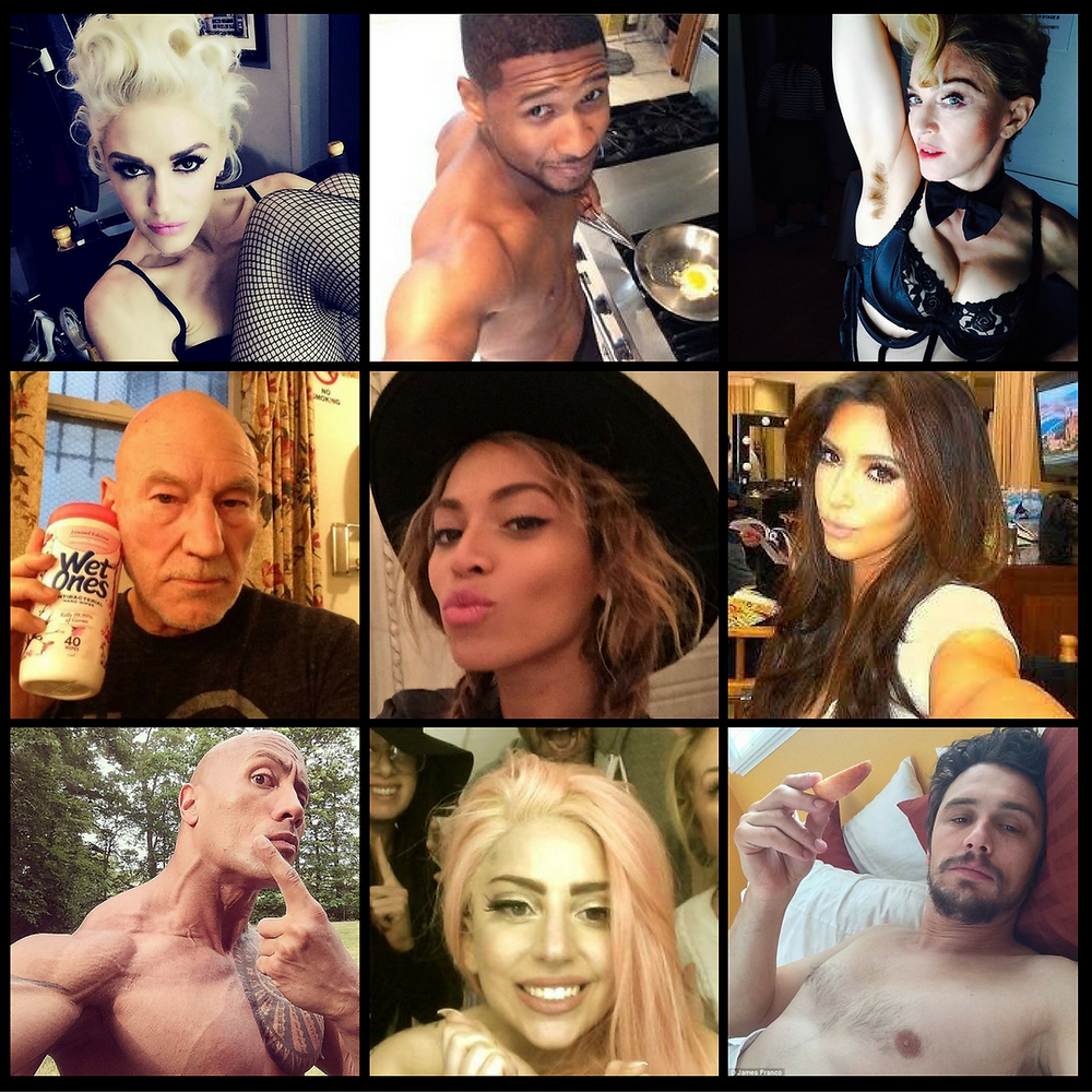 Celebrities on Instagram Collage