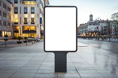 Blank mock up of vertical street poster