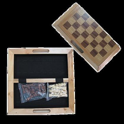 Oak folding Chess Set