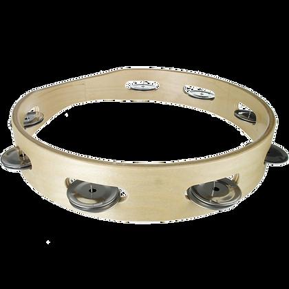 10 inch Headless Wood Tambourine