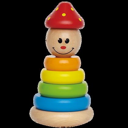 Wooden Clown Stacker