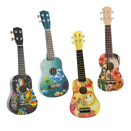 """21""""Colourful Wooden Guitar"""
