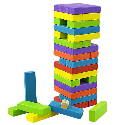 Colourful Wooden Jenga Blocks(48pcs)