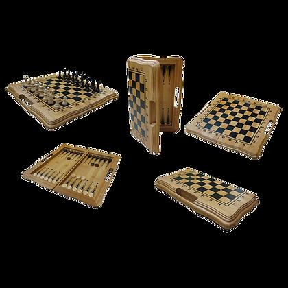 Solid Wood Folding Chess Set
