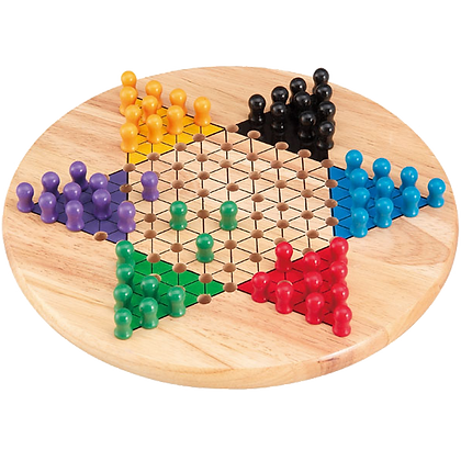 Solid Wood Chinese Checkers Set