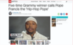 Malik Yusef calls Pope Francis the 'Hip-Hop Pope'
