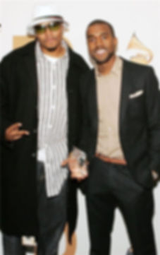 Malik Yusef and Kanye West at the Grammy's Win
