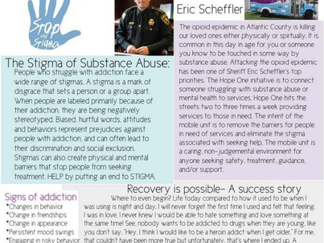 HOPE ONE MARCH NEWSLETTER - Sheriff Eric Scheffler