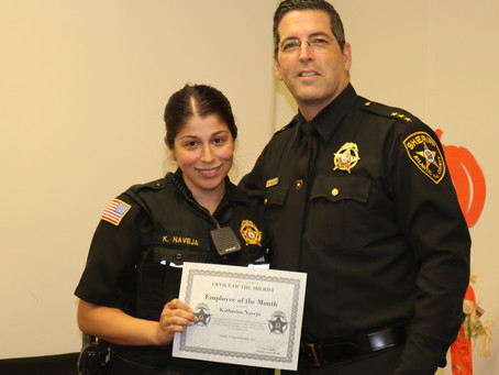 Sheriff Honors Employee of the Month