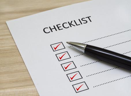 COVID-19 Checklist for Setting a New Routine