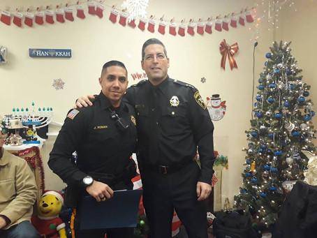 Top Gun Award to Officer Jose Roman