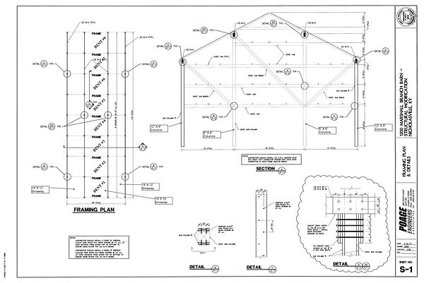 One Oak #1 Structual Drawings for 1200 M
