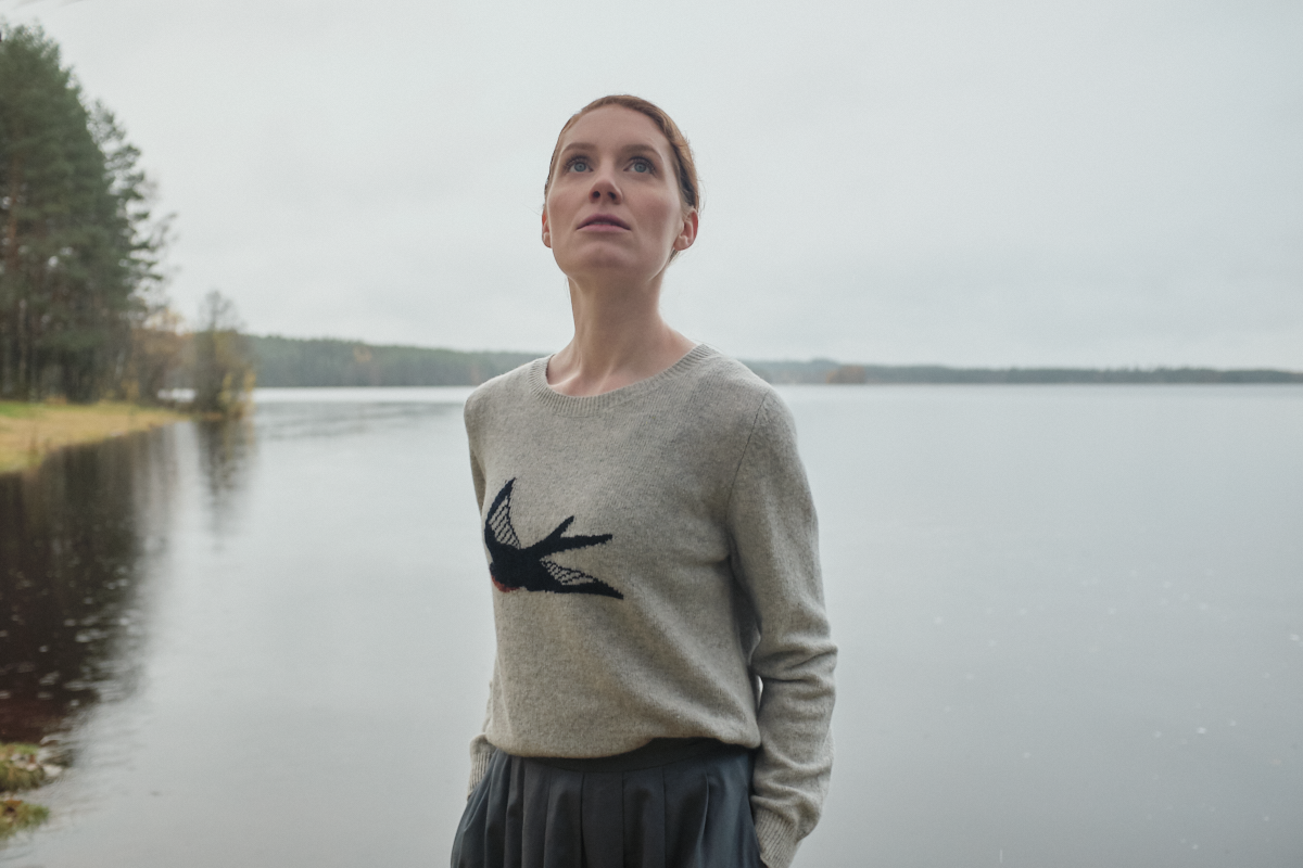 Hekne sweater with swallow