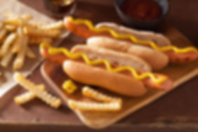 grilled-hot-dogs-with-mustard-and-french