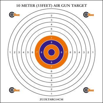 SMK 10m Airgun Target (100)