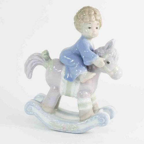 """Фарфоровая статуэтка """"Мальчик на лошадке"""""""