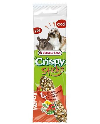 Versele Laga Crispy Sticks Herb Chinchilla and Rabbit 55g  (3 packs)