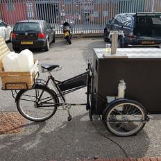 The Beer Bicycle. Two kegs, mini-remote