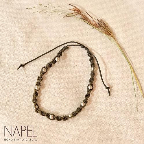 Boho Woven Anklet - Beads