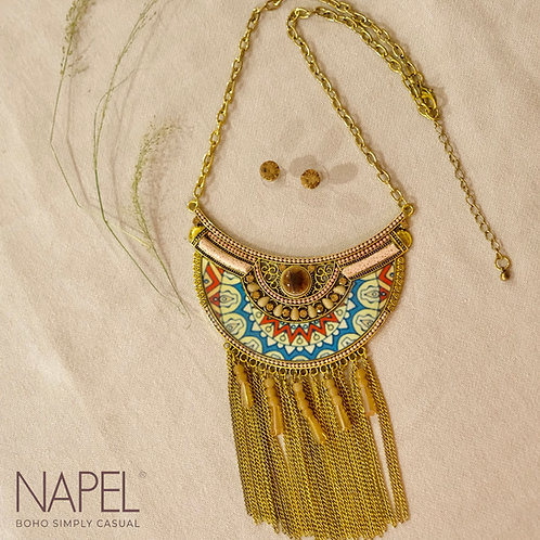 Boho Necklace - Bronze