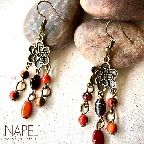 Boho Bronze Earring - Petals