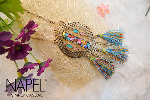 Boho Necklace - Colorful Tassel