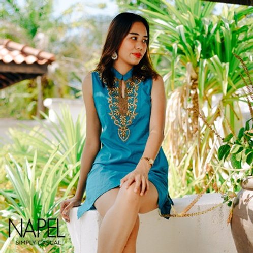 Embroidery Short Dress (with beads)