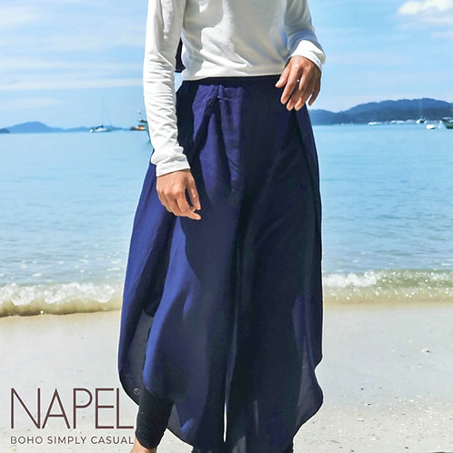 Tulip Side Split Long Pants