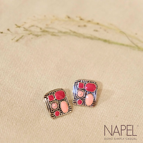 Boho Stud Earring - Rectangular