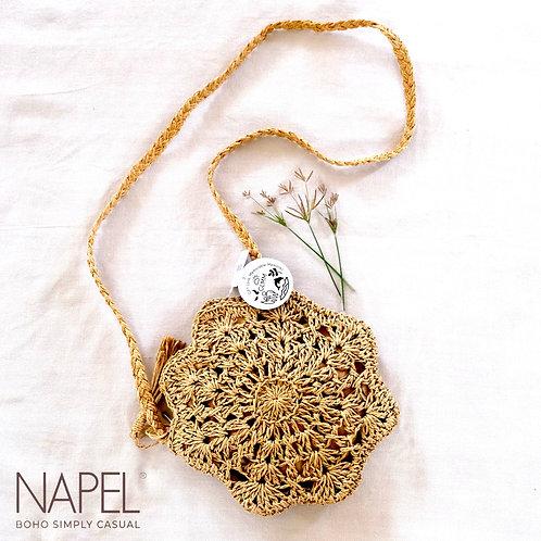 Handmade boho sling bag - Flower